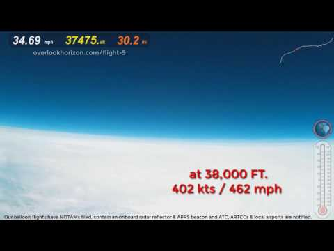 Weather Balloon GoPro Captures Airbus A319 near miss