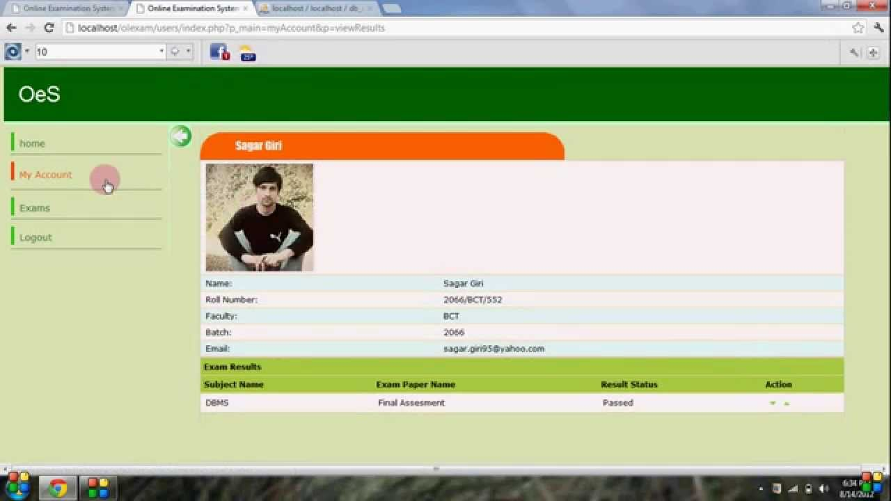 Online Examination System In Php Youtube