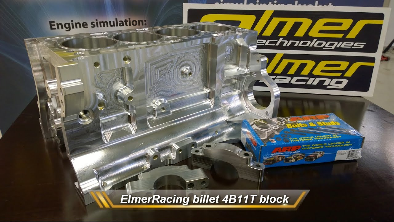 ElmerRacing Billet 4b11t Race Block Machining
