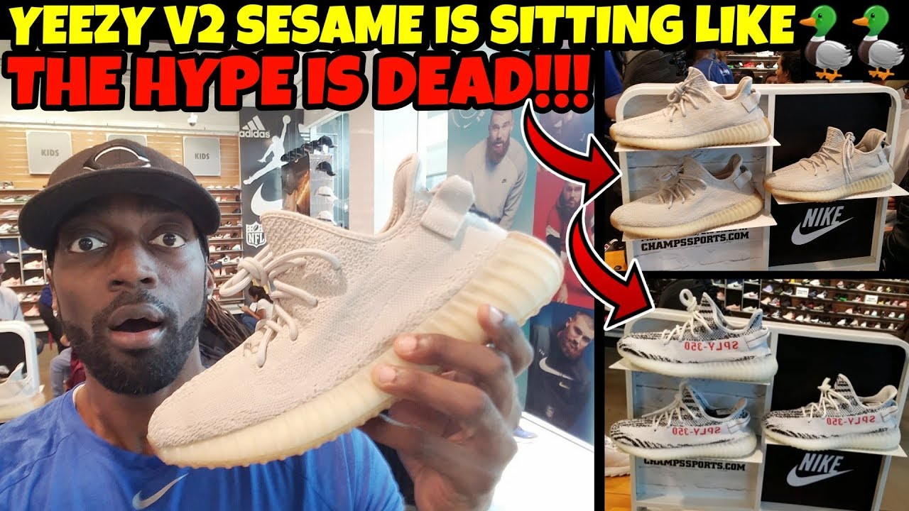 purchase cheap 78de0 bec4e Kanye Killed Yeezy Hype?? Yeezy V2 Sesame Sitting Like 🦆🦆🦆🦆