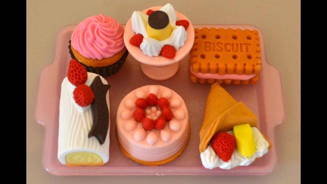 Japanese Bouncy Cake Recipe: Japanese Iwako Eraser Collection : Desert Erasers