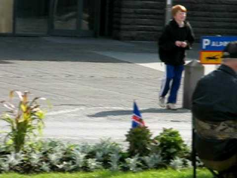 Icelandic protest agains financial criminal. June 24th 2009