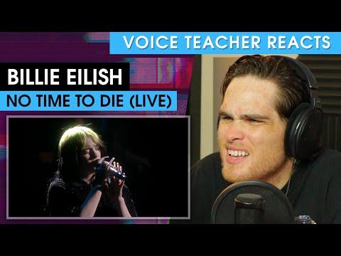 Billie Eilish - No Time To Die (The BRIT Awards)   Voice Teacher Reacts