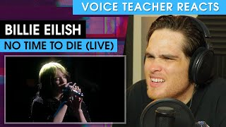 Gambar cover Billie Eilish - No Time To Die (The BRIT Awards) | Voice Teacher Reacts