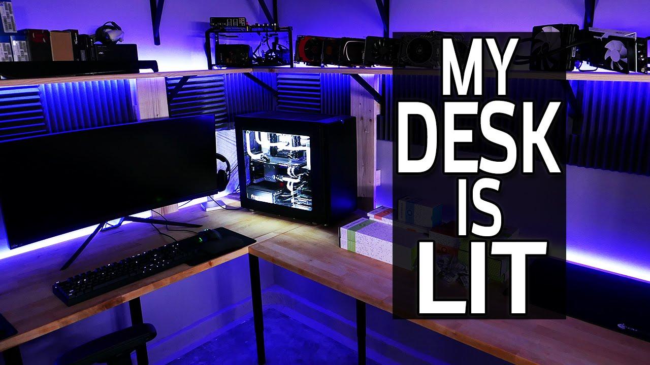 Desk Lighting With Rgb Leds Garage Worklog 12 Youtube