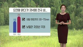 기상캐스터 윤수미의 6월 10일 날씨정보