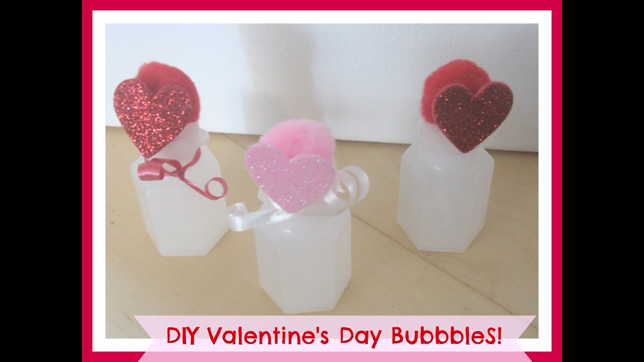 Cheap DIY Kids Valentine Gift Idea 15 Cent Bubbles Valentines Ideas