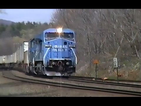 Conrail in the 1990's Reel 32: B&A action Westfield and Springfield Mass