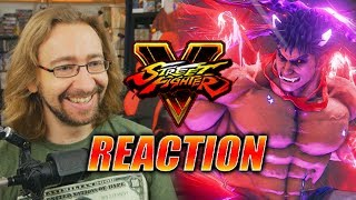 MAX REACTS: Kage (Evil Ryu) Reveal Trailer - Street Fighter V
