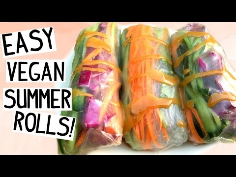 Easy Summer Rolls Recipe! [VEGAN & GLUTEN FREE]