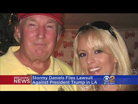 Stormy Daniels Files Lawsuit Against President Trump In LA from YouTube · Duration:  32 seconds