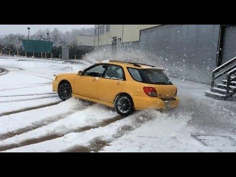 03 Subaru WRX wagon, bugeye snow drifting!