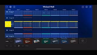 "Techno music made with KORG's Gadget (iPhone) ""Wicked Wall"""