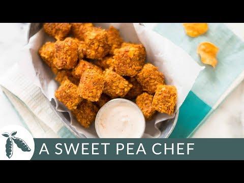 Crispy Baked Sweet Potato Tots with Greek Yogurt Dip (Healthy Side Dish!)