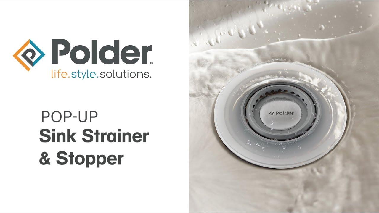 polder pop up sink strainer stopper