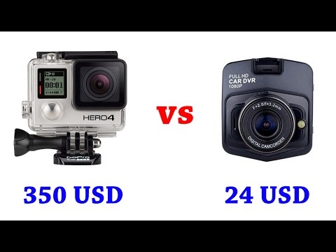 Gopro HERO4 Silver Edition vs Vehicle Blackbox DVR Comparison