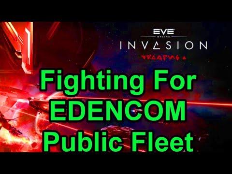 Fighting For EDENCOM Fleet - EVE Online Live