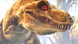 Тиранозавр 10 яиц и маленькие динозавры. Про динозавров для детей