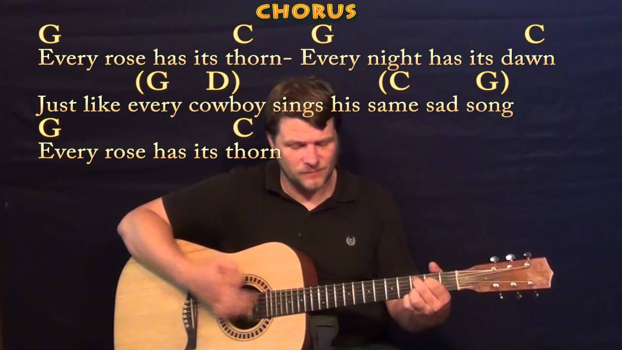 Every Rose Has Its Thorn Poison Strum Guitar Cover Lesson With