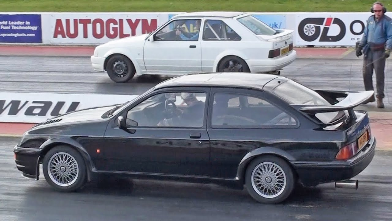 Ford Sierra RS Cosworth vs Mk4 Escort S2 RS Turbo - YouTube