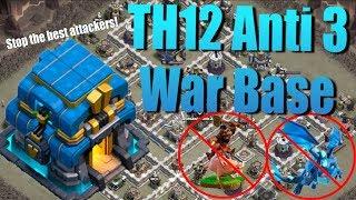 Best TH12 Anti 3 Star Base - Stop ALL Meta Attacks