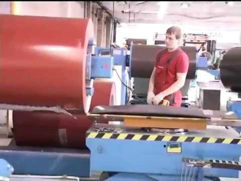 Производство металлочерепицы М28.
