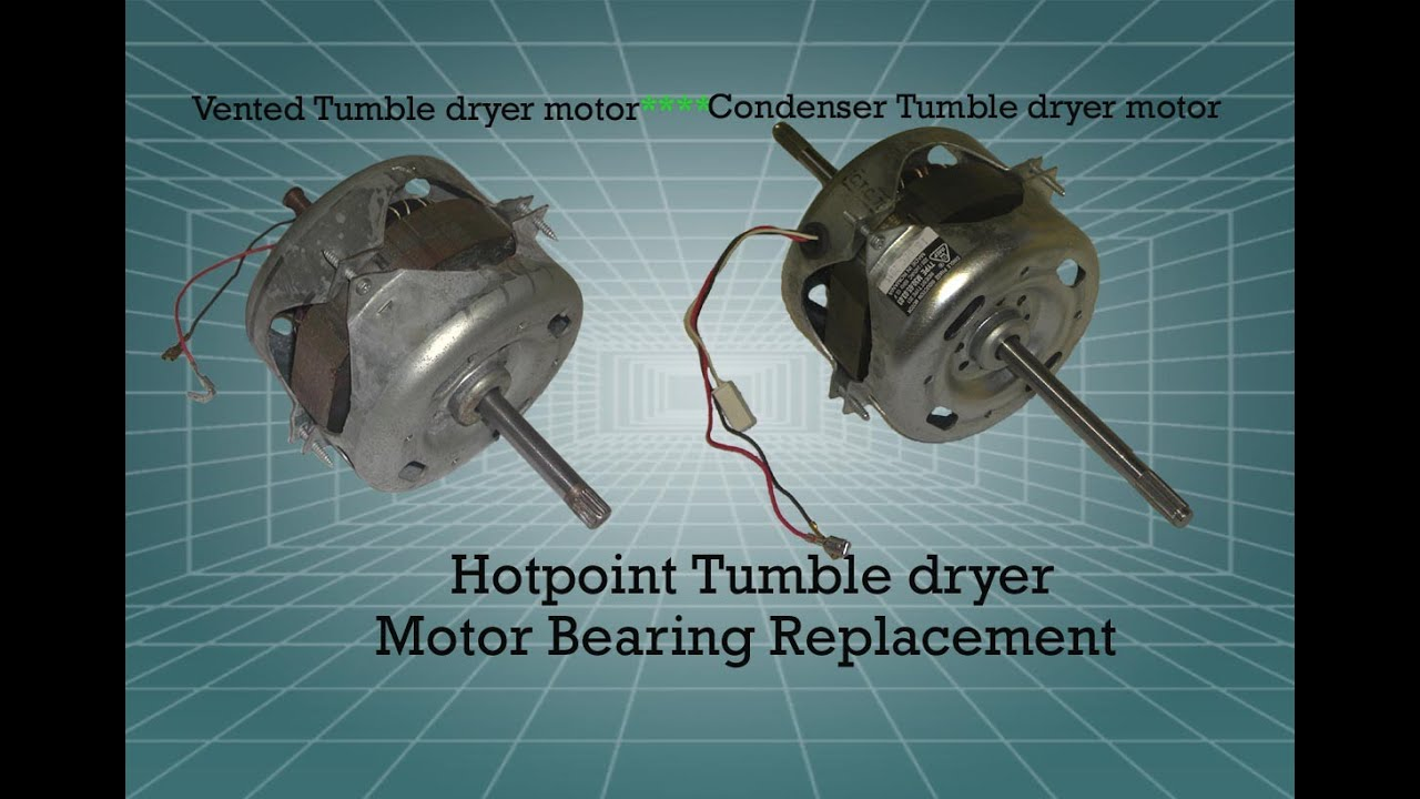 How To Replace The Motor Bearings On A Hotpoint Tumble