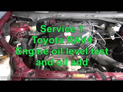 Service 1. How to do Toyota RAV4 service: Engine oil level test and oil add. Years 2000 to 2015