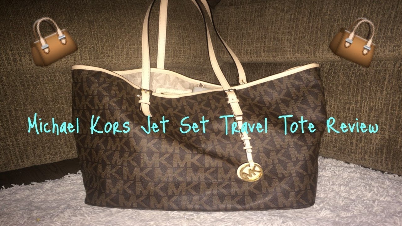 0aa006f8f954 Michael Kors Jet Set Travel Tote Review (med brown) - YouTube