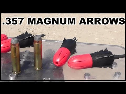 BOW-MAG .357 Exploding Arrow Tips - We test them out!