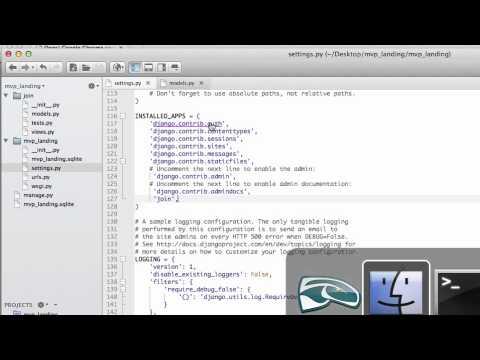 Django Tutorial -- MVP Landing Page: Add Join Model (2 of 17) Coding For Entrepreneurs