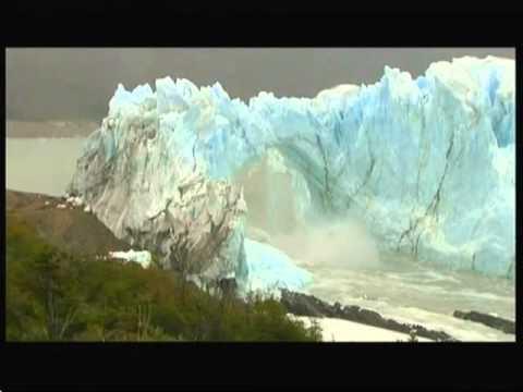Glacier collapse (Argentina) - BBC News - 11th March 2016