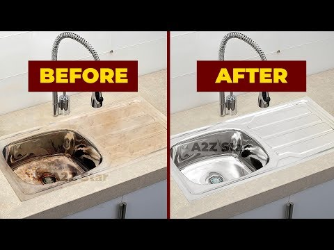 How to Clean Stainless Steel Kitchen wash basin Sink Cleaning Routine | Home Cleaning Tips