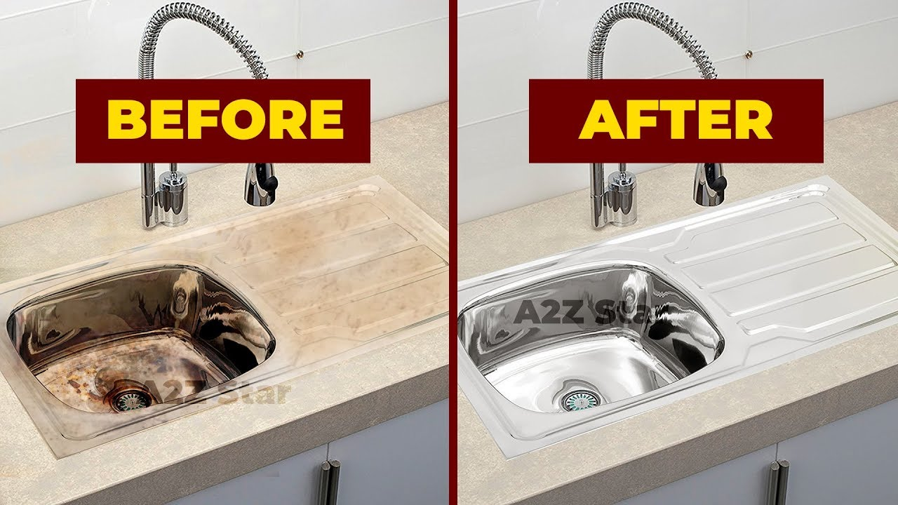 how to clean stainless steel kitchen wash basin sink cleaning routine home cleaning tips