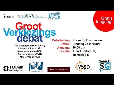 TU Delft 175 jaar | Groot Verkiezingsdebat