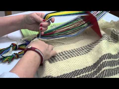 How to Weave a Saami Style Band onto a Sami Grene Blanket