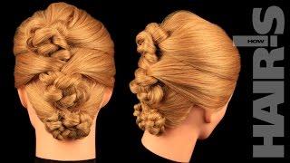 Делаем аккуратную прическу из пучков с подхватами - видеоурок (мастер-класс) Hair's How
