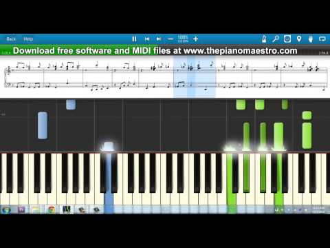 Hopelessly Devoted to You   John Farrer  piano lesson with Synthesia