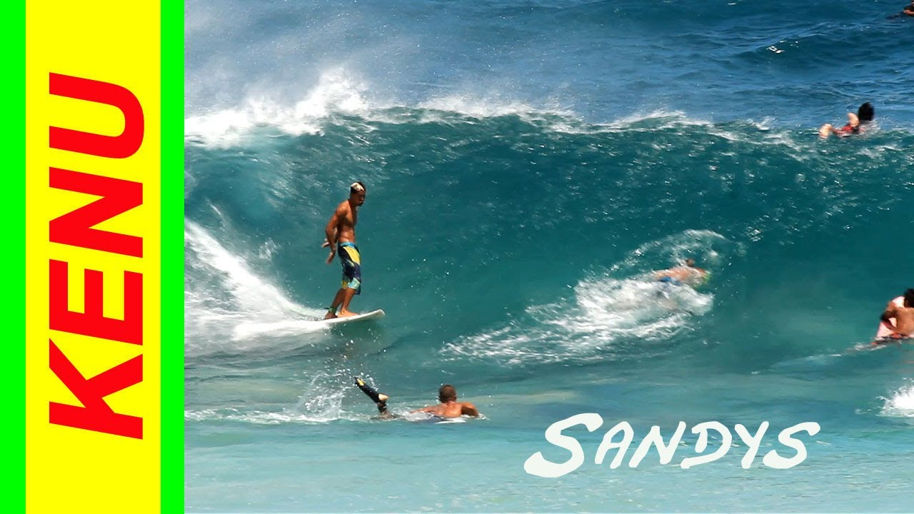 Sandy Beach Surfing Waves In Hawaii June 28 2017 Half Point Surfboard
