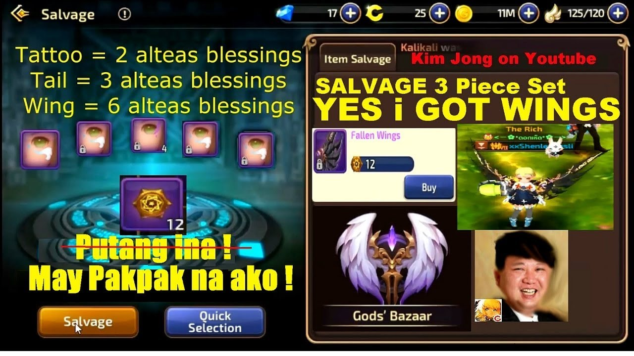 How To Craft Wings: Alteia's Blessing | God's Bazaar | Salvage 3