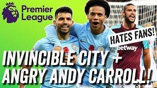 Man City Invincibles, Ronaldo retires + Andy Carroll RANTS at West Ham fans