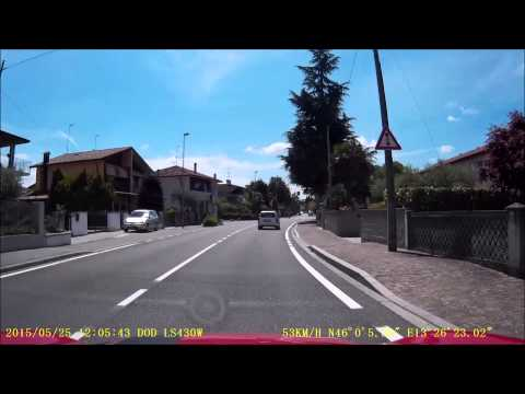 Dashcam - Tarvisio, Italy to Grado, Italy - 25 May 2015
