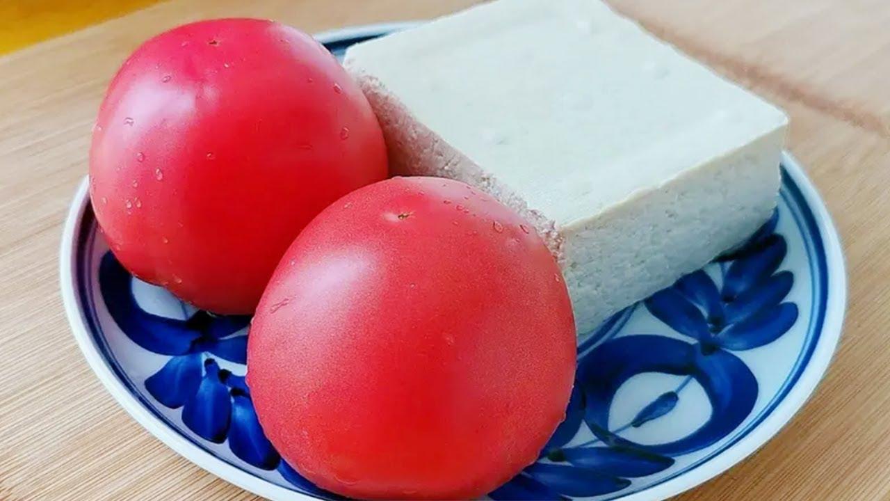 【小穎美食】西紅柿這個做法太好吃了,加一塊豆腐,做法超簡單,連小孩都能連吃3個
