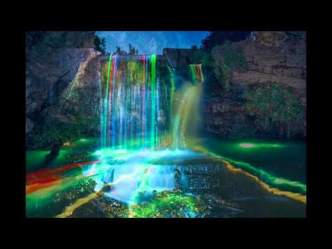 Artists Make Neon Waterfalls Glow Youtube