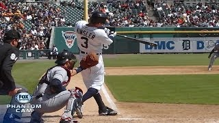 Kinsler hits a three-run home run