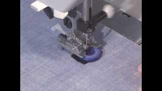 Пришивание пуговицы - уроки шитья на швейной машине