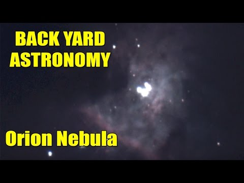 LIVE backyard astronomy The Orion Nebula- 10 inch Dobsonian telescope