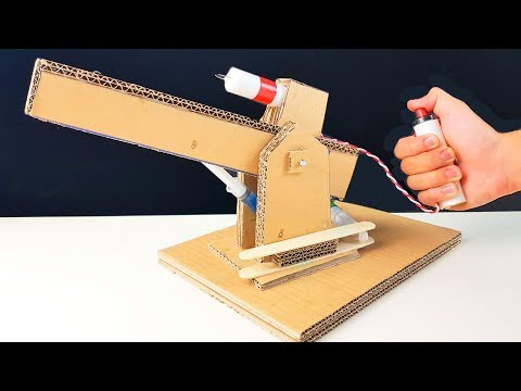 How to Make a POWERFUL CANNON from Cardboard!