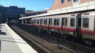 MBTA Red Line Trains in Boston 9/23/14