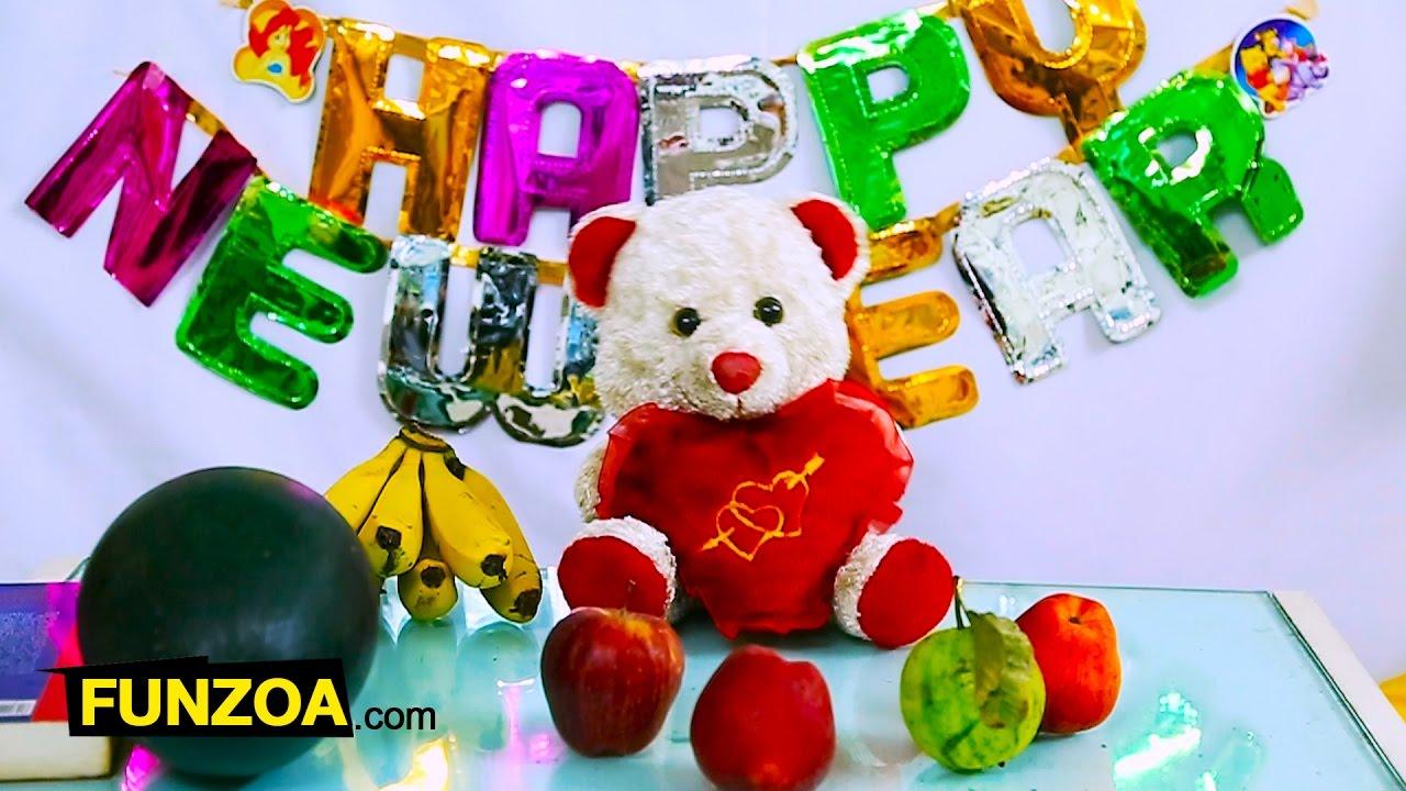 Funny HAPPY NEW YEAR | Hindi Whatsapp Song | Funzoa Mimi Teddy | Wish  Friends And Family New Year